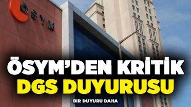 Photo of ÖSYM'den Kritik DGS Duyurusu ! İşte Açık Olacak Nüfus Müdürlükleri