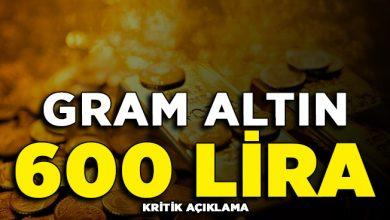 Photo of Kritik Açıklama Yapıldı: Gram Altın 600 Lirayı Bulabilir
