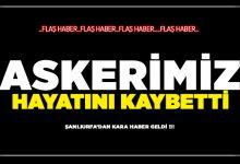 Photo of Şanlıurfa'dan Kara Haber Geldi ! Askerimiz Hayatını Kaybetti